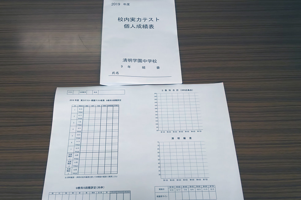 校内実力テストと模擬テストの実施